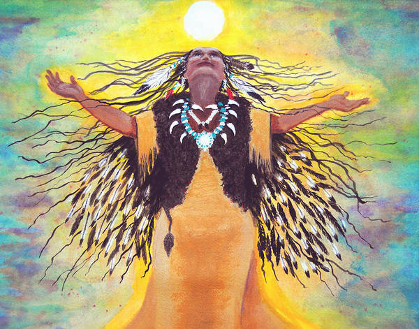 Saying Good Morning To The Sun Art Print by Vallee Johnson