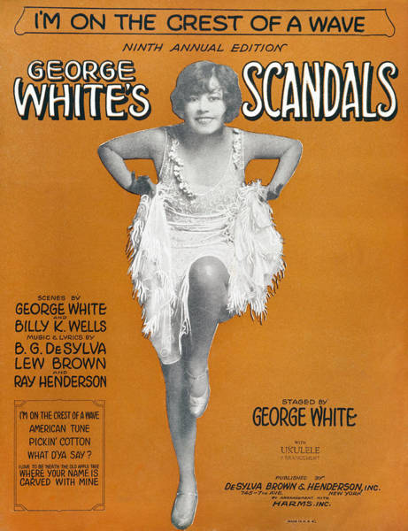 Photograph - Scandals Songsheet, 1928 by Granger