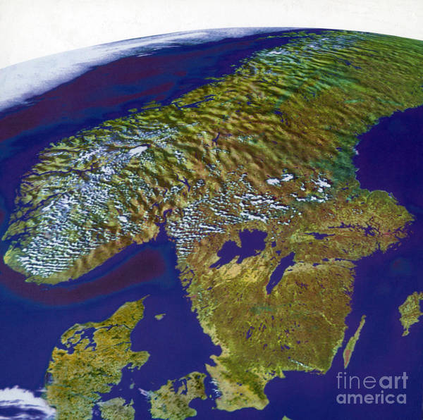 Photograph - Scandinavia by Science Source