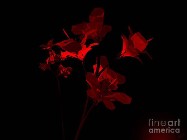 Aira Wall Art - Digital Art - Scarlet Bouquet by Tea Aira