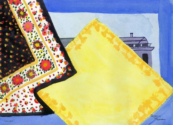 Scarves Art Print by Susan Risse