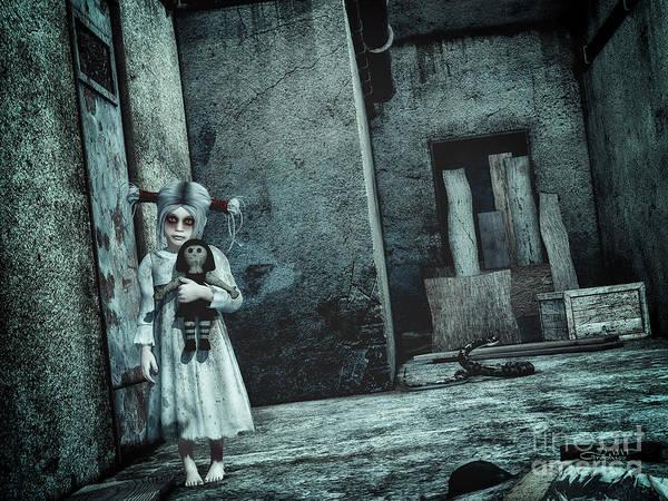 Digital Art - Scary Place by Jutta Maria Pusl
