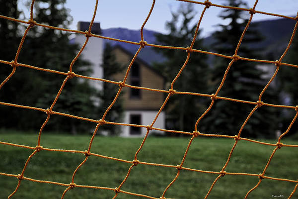 Houses Wall Art - Photograph - Scene Through A Volley Ball Court 2 by Madeline Ellis