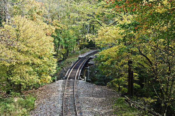 Scenic Railway Tracks Art Print