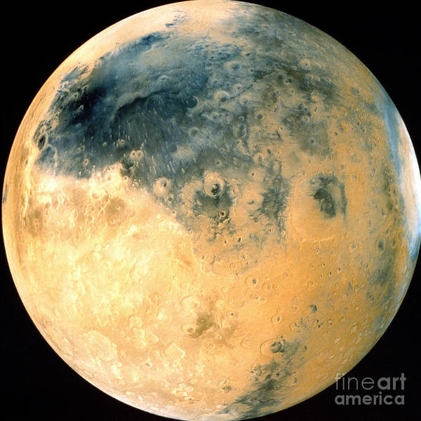 Photograph - Schiaparelli Hemisphere Of Mars by Stocktrek Images