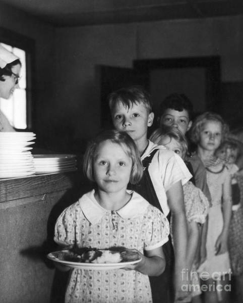 Works Progress Administration Photograph - School Lunch, 1936 by Granger