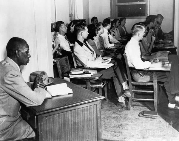 Photograph - School Segregation, 1948 by Granger