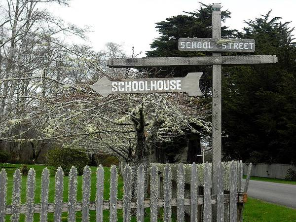 Photograph - School Street Oysterville by Kelly Manning