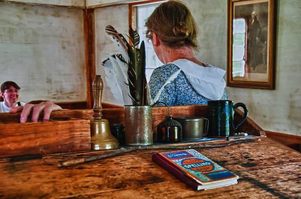 Photograph - Schoolmarm's Desk by Guy Whiteley