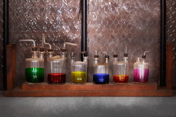 Photograph - Science - Chemist - Glassware For Couples by Mike Savad