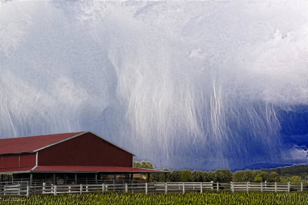Rogue Valley Photograph - Scifi Storm And Red Barn by Mick Anderson