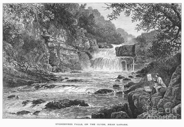 Photograph - Scotland: Waterfall by Granger