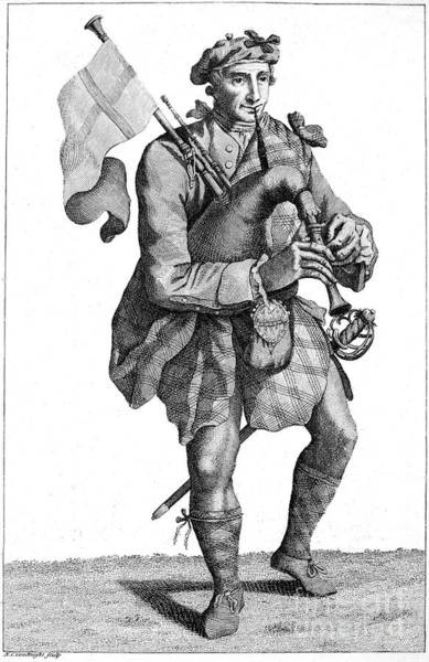 Bagpipe Wall Art - Photograph - Scottish Soldier, 1786 by Granger