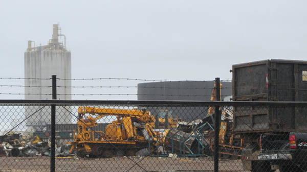 Photograph - Scrapyard Machinery by Anita Burgermeister