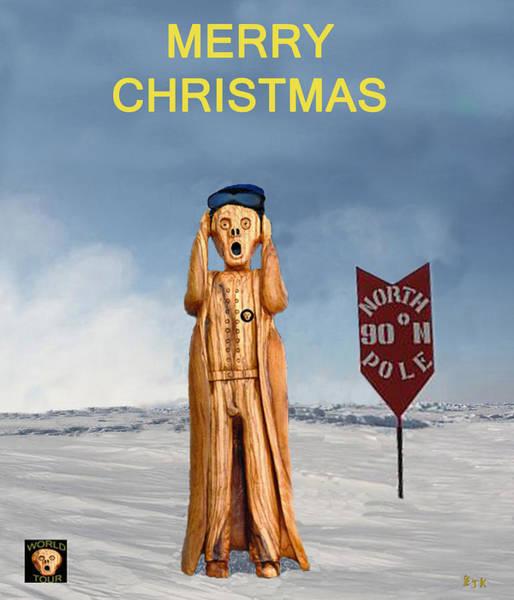 Mixed Media - Scream Christmas by Eric Kempson
