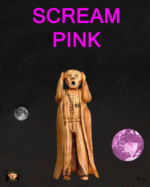 Mixed Media - Scream Pink by Eric Kempson