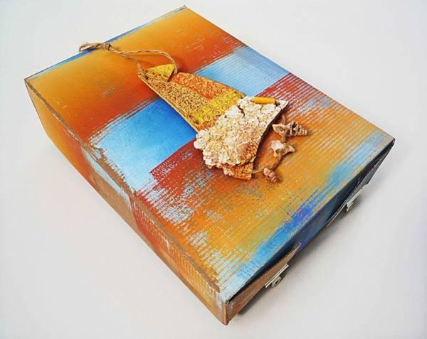 Lagos Painting - Sea Change Box by Charles Stuart