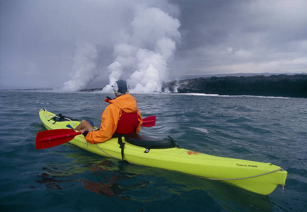 Wall Art - Photograph - Sea Kayaking, Hawaii by G. Brad Lewis