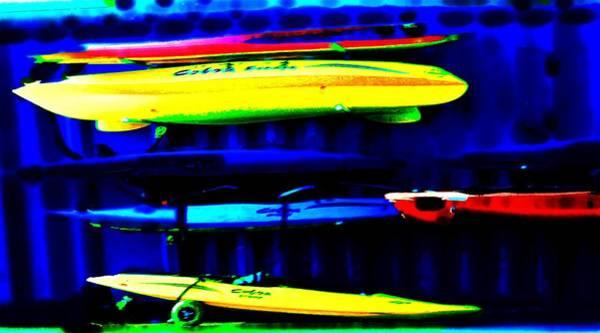 Wall Art - Photograph - Sea Kayaks 2 by Eve Paludan