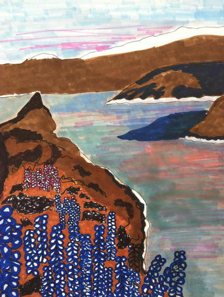 Lava Drawing - Sea Of Lava And Rock by Gail Eisenfeld