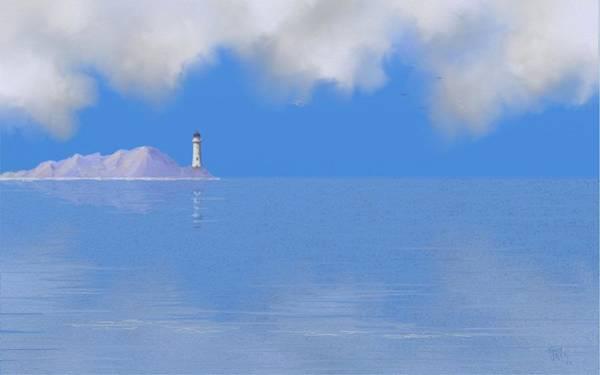 Digital Art - Sea Of Tranquility by Tony Rodriguez
