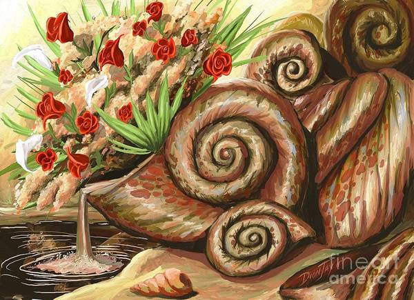 Wall Art - Mixed Media - Sea Shells Of Life by The Art of DionJa'Y