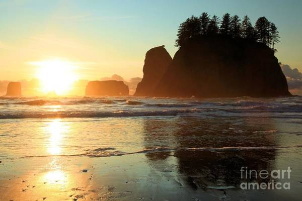 Photograph - Sea Stacks And Sunset by Adam Jewell