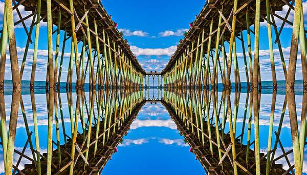 Piers Digital Art - Sea Trestle by Betsy Knapp