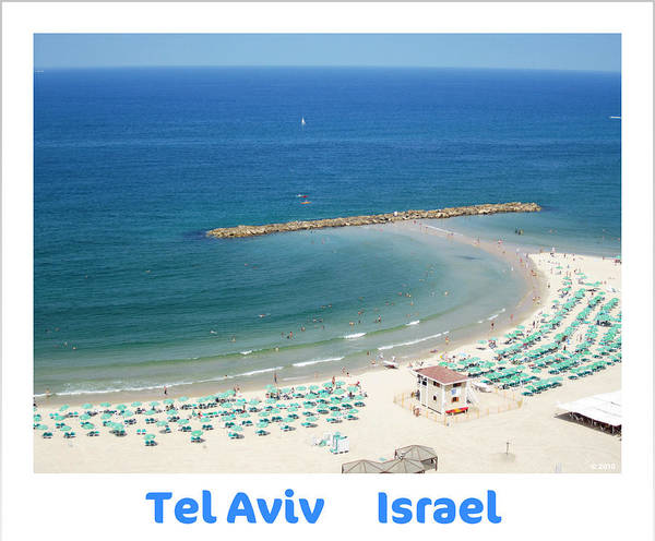 Photograph - Sea View  Tel Aviv Israel Art  by John Shiron