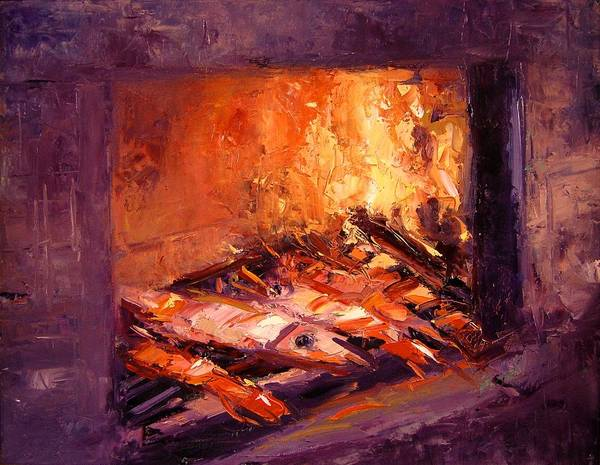 Bbq Painting - Seafood On The Grill by R W Goetting