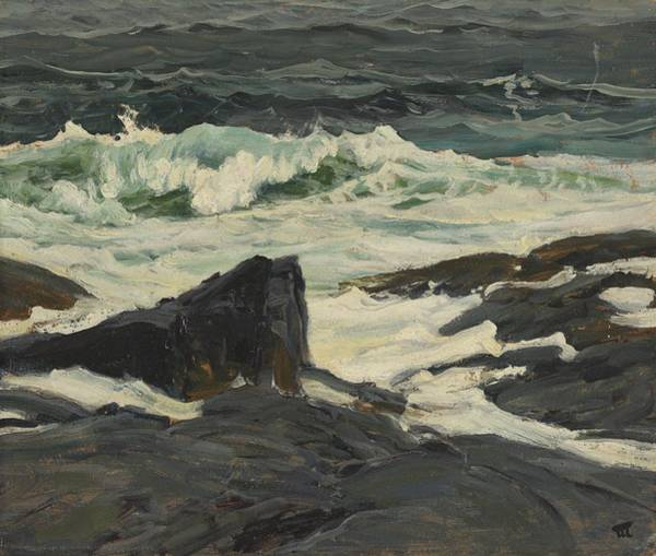 Wave Breaking Painting - Seascape by Frederick Judd Waugh