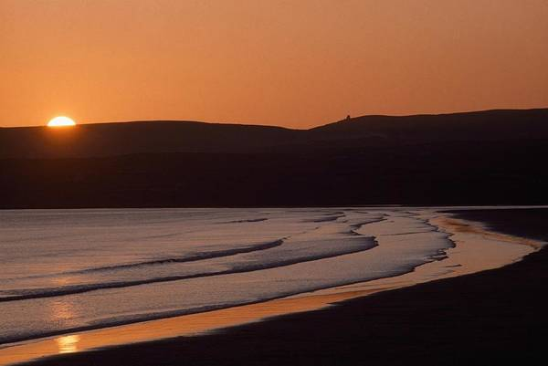 Oceanfront Photograph - Seashore Sunset Lahinch, County Clare by The Irish Image Collection
