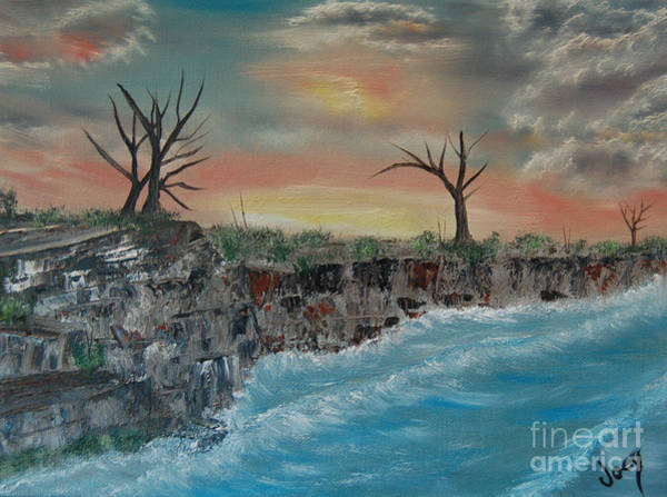 Wall Art - Painting - Seaside Bluff by Joey Anderson