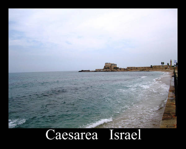 Photograph - Seaside View  Caesarea Israel by John Shiron