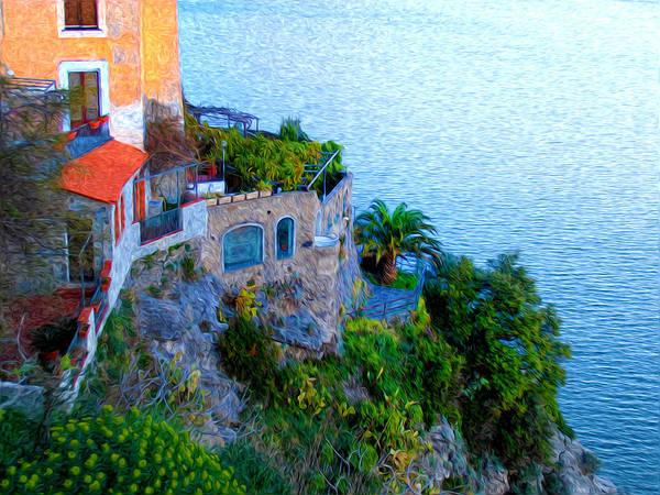 Photograph - Seaside Villa Amalfi by Bill Cannon