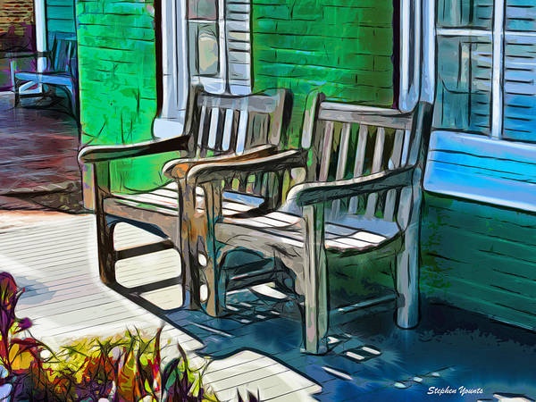 Wall Art - Digital Art - Seating For Two by Stephen Younts