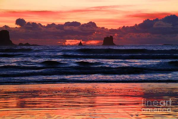 Photograph - Second Beach Fire In The Sky by Adam Jewell