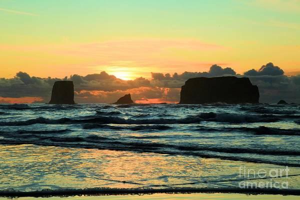 Photograph - Second Beach Sea Stacks by Adam Jewell