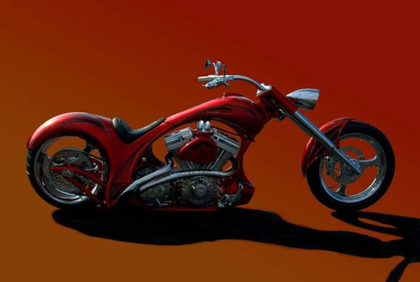 Photograph - Second Chance Custom Motorcycle by Tim McCullough
