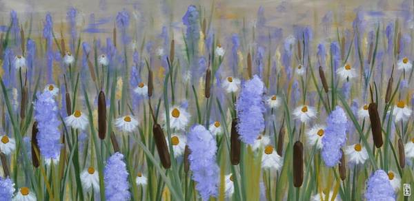 Bullrush Painting - Secret Garden by Holly Donohoe
