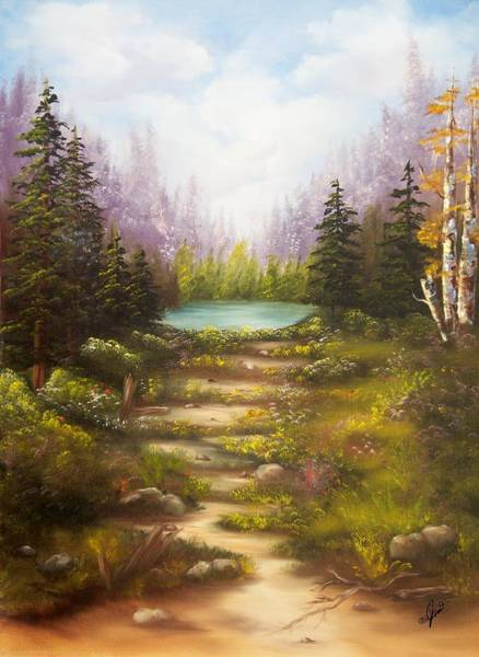 Painting - Secret Lake by Joni McPherson