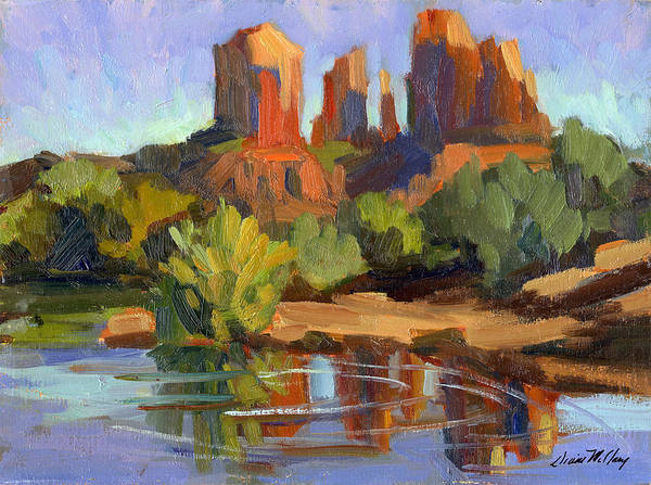 Sedona Painting - Sedona Cathedral Rock by Diane McClary