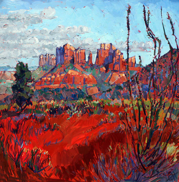 Red Rock Painting - Sedona Reds by Erin Hanson