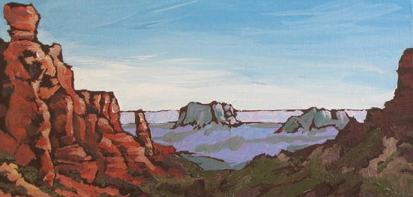 Oak Creek Canyon Painting - Sedona Vista by Sandy Tracey