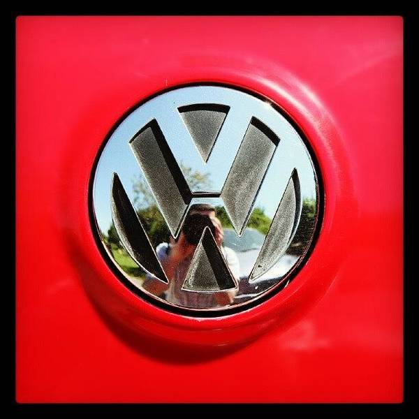 Volkswagen Photograph - See Me? #car #badge #carbadge by Paul Petey