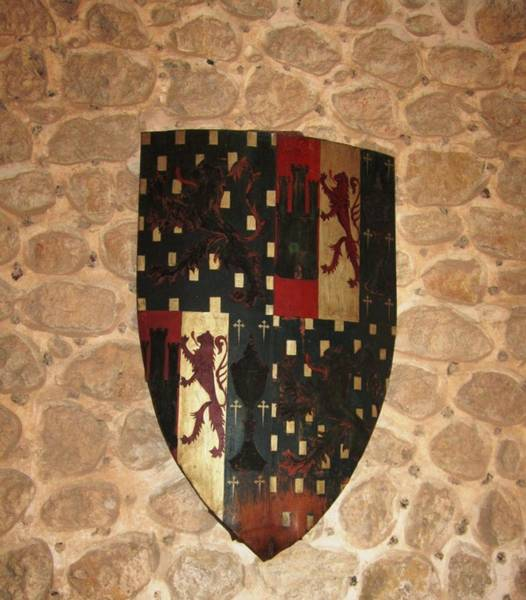 Photograph - Segovia Castle Ancient Knight Armor Emblem In Spain by John Shiron