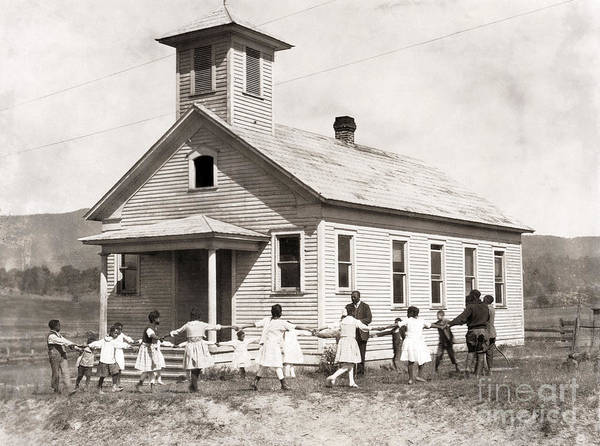 Photograph - Segregated School, 1921 by Granger