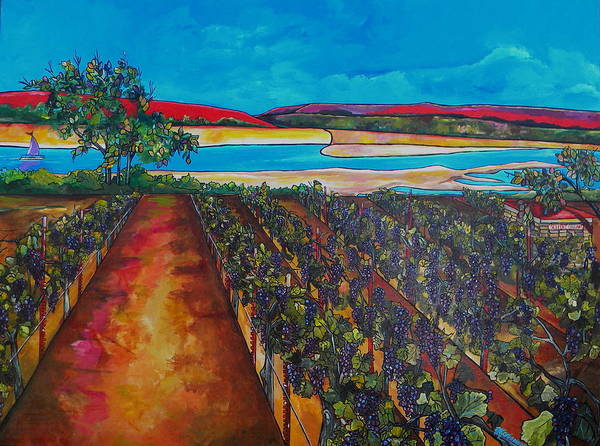 Painting - Seiferts Vineyard by Patti Schermerhorn