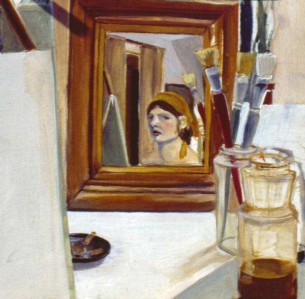 Painting - Self Portrait 1977 by Nancy Griswold