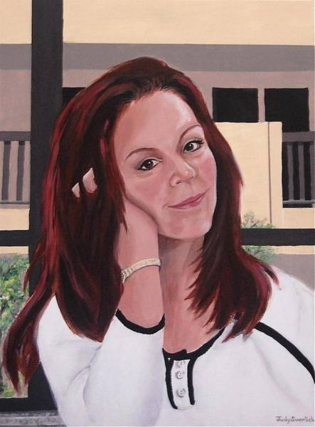 Wall Art - Painting - Self-portrait by Judy Swerlick